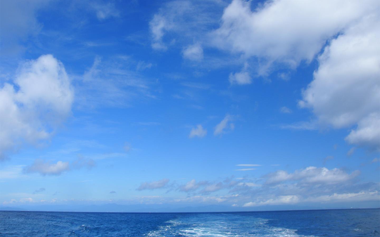 空と海 : フリー素材タウン1440ワイド壁紙